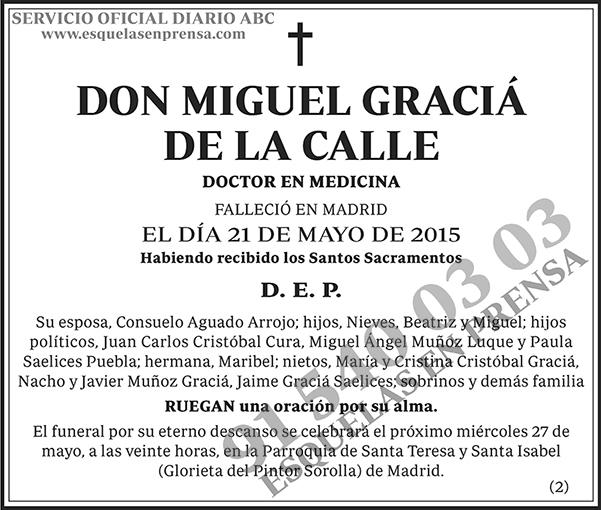 Miguel Graciá de la Calle